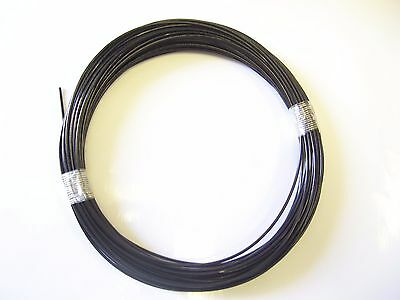 Black Vinyl Coated Wire Rope Cable,1/16 - 3/32, 7x7, 50 Ft Coil