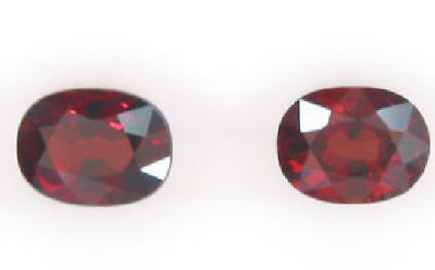 4.33 Ct. Pair Oval Charming Natural Red Pyrope