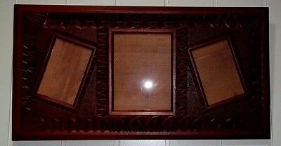 Large Antique Chip Carved Australian Red Cedar Photo Frame , circa early 1900's