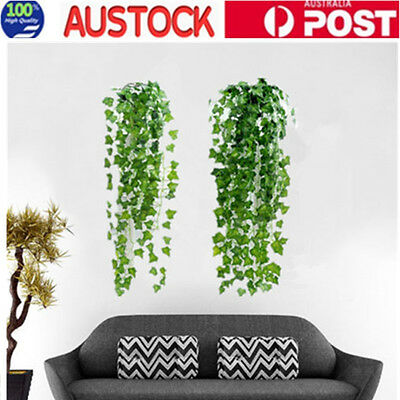 2X Artificial Ivy Vine Fake Foliage Flower Hanging Leaf Garland Plant Home Decor