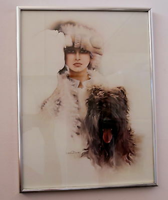 Retro Sara Moon Framed Print Never Used Perfect Condition