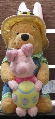 Disney Pooh & Piglet Easter Stacking Bean Bag ** Brand New** Retired & Rare