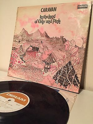 CARAVAN - IN THE LAND OF THE GREY AND  PINK-RARE 1st UK PRESS 1971 SDL R1