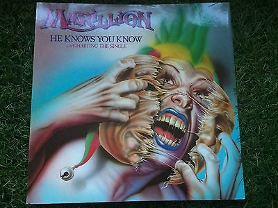 "Marillion ‎– He Knows You Know  12EMI 5362 12"" SINGLE UK 1ST N.MINT/N.MINT"