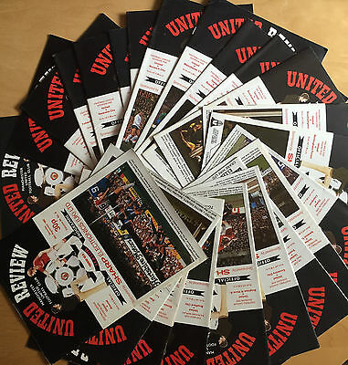 MANCHESTER UNITED 1982/1983 - Job Lot 24 home programmes all listed