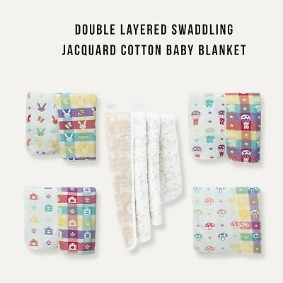 10 KaWaii Assorted Doubled-Layered Jacquard Cotton Swaddling Baby Blanket Canada