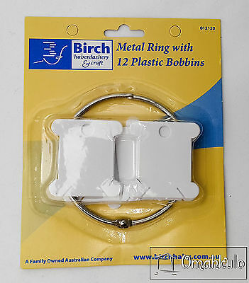 BIRCH - Metal Ring with 12 Plastic Floss Bobbins