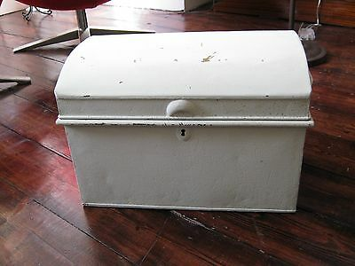 Doomed-Top Painted Metal Trunk/Chest