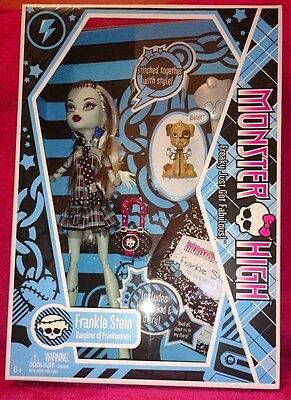 Monster High Frankie Stein ORIGINAL WAVE 1 BNIB - RARE