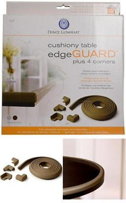 Prince Lionheart Table Edge Guard with 4 Corners (Chocolate) Absorbs Impact