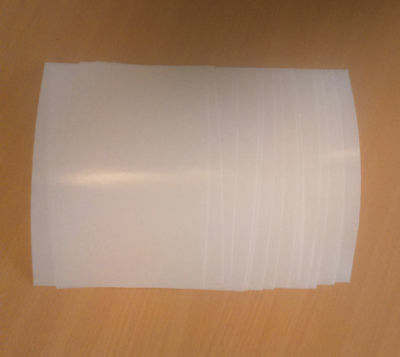 10 A5 double sided adhesive tape sheets - very sticky
