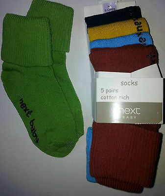 5 Pack of Next Baby Socks, Cotton Rich, Brand New