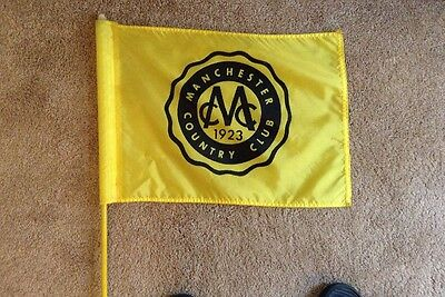 Manchester Country Club- Golf Flag and Flag stick from late 80' early 90's