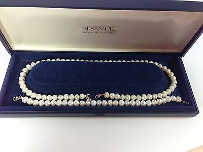 Boxed 925 Silver Clasp Faux Pearl Necklace & Bracelet - Valentine's Gift!