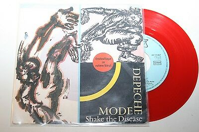 """Depeche Mode - Shake The Disease - 7"""" Mute rotes Vinyl Red Wax"""