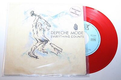 """Depeche Mode - Everything Counts - 7"""" Mute rotes Vinyl / Red Wax"""