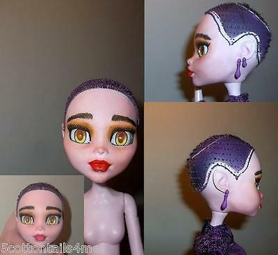 """OOAK Monster High 17"""" bjd doll yellow 20mm eye comes with 2 pair of new 20mm eye"""