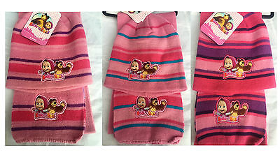 Masha and The Bear Hat and Scarf Set 3 - 6 Years