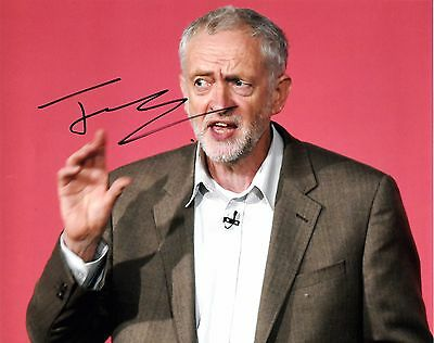 JEREMY CORBYN SIGNED 10x8 PHOTO - The Labour Party