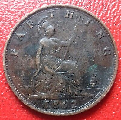 1862 Farthing. Obverse A Reverse 5. Close 6 And 2 In Date.