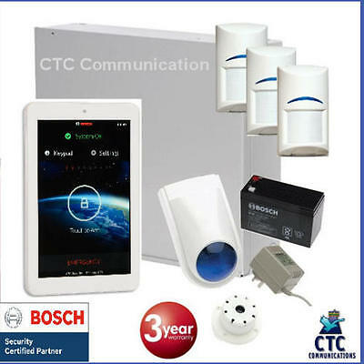 """Bosch Solution 3000 Alarm System with 3 x Gen 2 Quad Detectors+ 7"""" Touch Screen"""