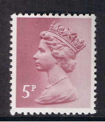 GB QEII Machin Definitive Stamp. SG X1004 5p Claret. Litho. PP MNH 10% off 5+