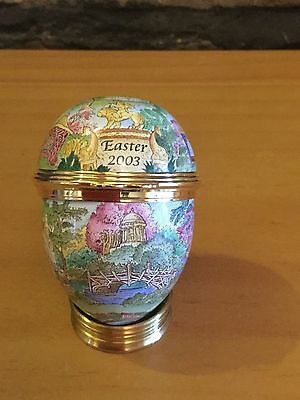 Halcyon Days Enamels Easter Egg Enamel Egg 2003