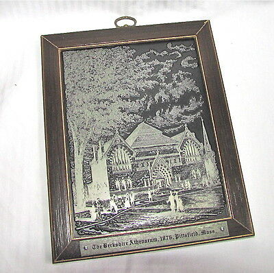 The Berkshire Athenaeum - Pittsfield, MA Wall Plaque - Woodcrafts by Bob Tobin