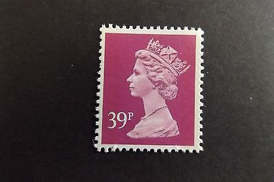 GB QEII Machin Definitive Stamp. SG X1022 39p Bright Magenta 2B Litho MNH