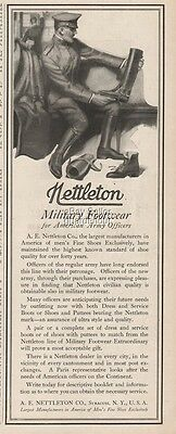 1918 Nettleton Co Syracuse NY WWI American Army Officer US Military Boots Ad