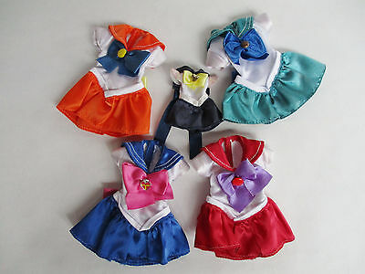 Sailor Moon Outfit Dress For Doll Set Of 5 Bandai Japan Used