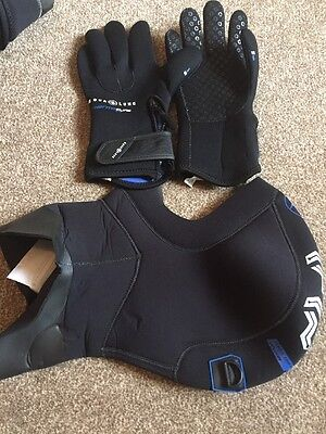 Aqualung Thermocline Zip Glove 5mm Large And Aqualung Hood