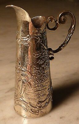 Sterling Miniature Tankard Victorian Mother Child Silver Hallmarked England 1901