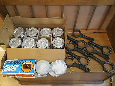 Powerhouse Ford 351W Pistons Grant 2271 Rings +.030 & 351 Windsor Connecting Rod