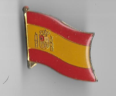 Vintage Flag of Spain old enamel pin
