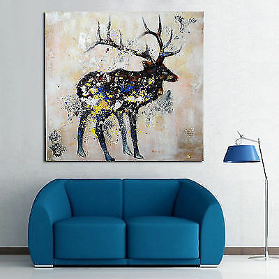 Hand-painted Abstract The Beauty Of The Antelope Deer Art Oil Painting On Canvas