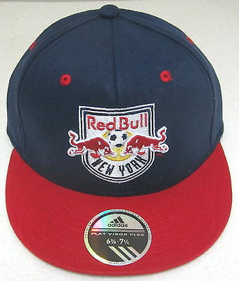 MLS New York Red Bulls Multi-Color Structured Flat Bill Fitted Hat By adidas  S 8dbf046bb3ff