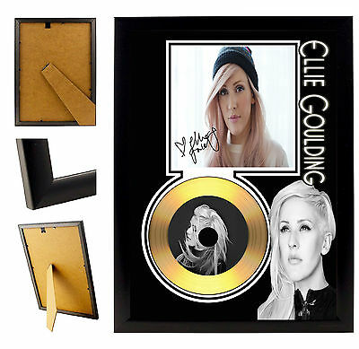 Ellie Goulding  - A4 Signed Framed Gold Vinyl Collectors Cd Display Picture
