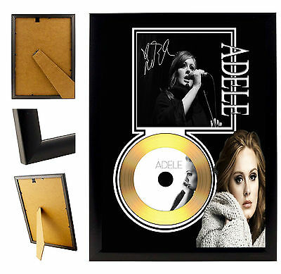 Adele - A4 Signed Framed Gold Vinyl Collectors Cd Display Picture