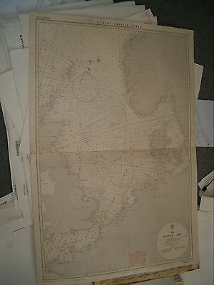 Vintage Admiralty Chart (Consol) L.2339 THE NORTH SEA  1922 edn