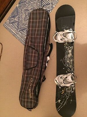 Salamon snowboard 158.5 and k2 bindings with Dakine carrier bag