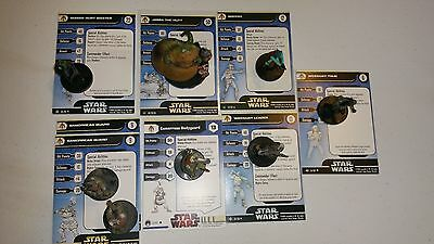 P Star Wars Miniatures Fringe Jaba Greedo Rodian Hunt Master Gamorrean Weequay