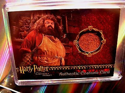 Harry Potter-SS-Authentic-Costume Card-Robbie Coltrane-Rubeus Hagrid-#'d to 710