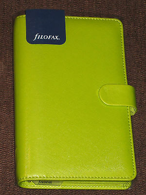 Filofax Saffiano 2017 Compact Organiser PEAR Leather Look (022529) NEW