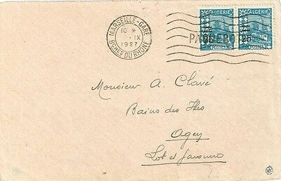 1927 Algeria PAQUEBOT to France - front only