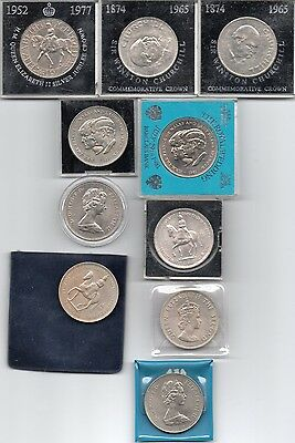 Queen Elizabeth (1953-1971) Crowns (5/-) - Various available - Circulated