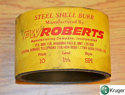 FW ROBERTS Steel shell burr  10 pitch lead 1 ½