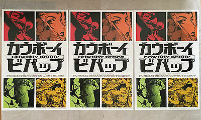 LOT 3 - COWBOY BEBOP Posters Anime Manga AS IS - Good Condition FREE SHIP NYCC
