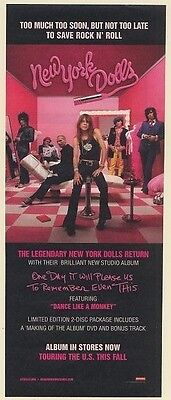 2006 New York Dolls One Day It Will Please Us Promo Print Ad