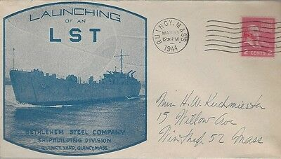 1944 First Day of Launching of an LST cover